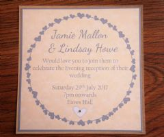 Evening Invitation in matching envelope